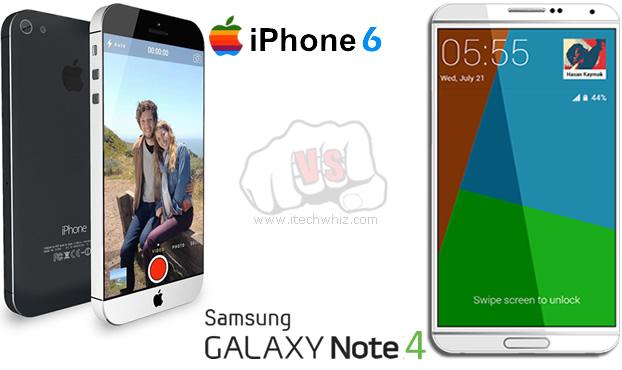 iPhone 6 vs Galaxy Note 4 Specs Comparison