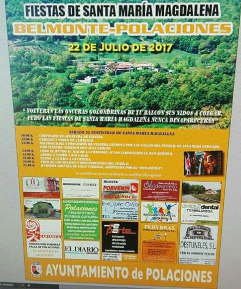 Fiestas de Santa María Magdalena en Belmonte(Polaciones) 2017