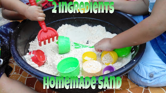 Brown House Memories: Two Ingredients Homemade Sand