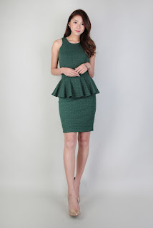 image result peplum green dress