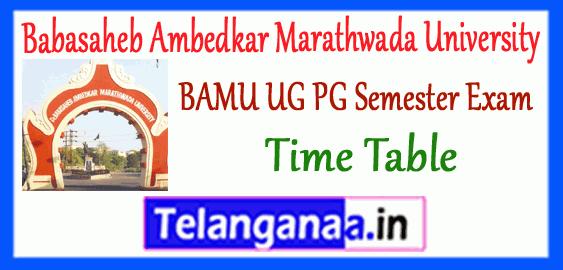 BAMU Babasaheb Ambedkar Marathwada University Odd Semester UG PG Exam Time Table