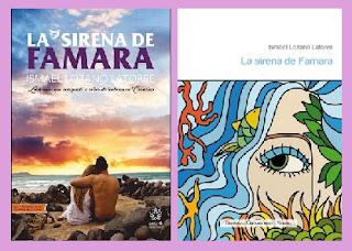 Portadas del libro La sirena de Famara, de Ismael Lozano Latorre