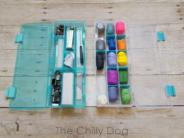 Quick tips for keeping your polymer clay and sculpting tools neatly contained.
