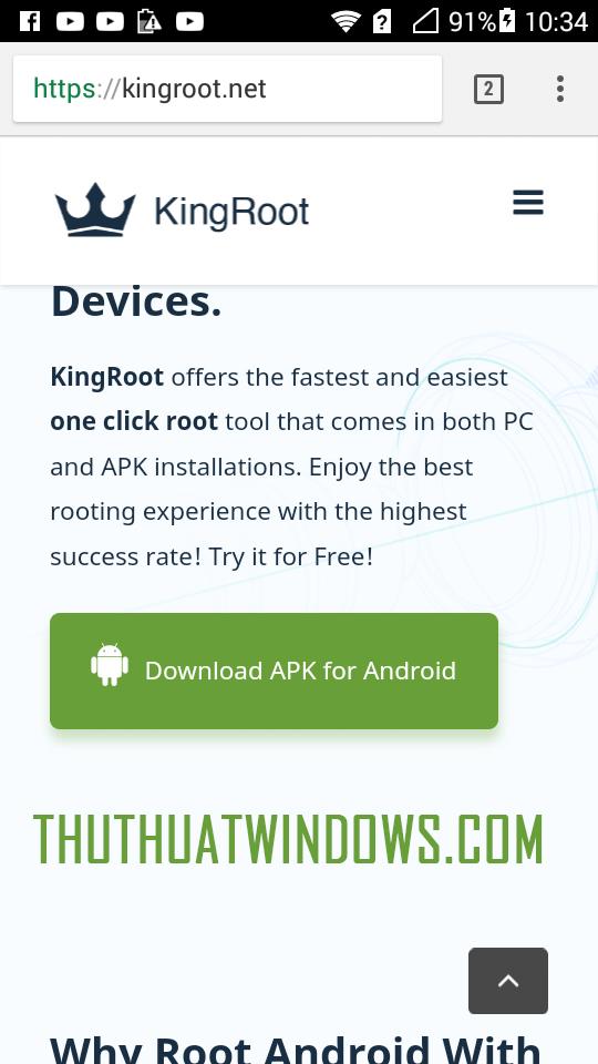 Hướng dẫn root mọi điện thoại chạy Android không cần máy tính