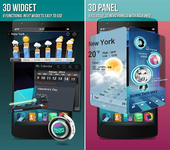 Next Launcher 3D Shell Apk Full Version