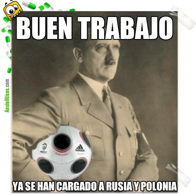 Chiste de la Eurocopa: Hitler da las Gracias