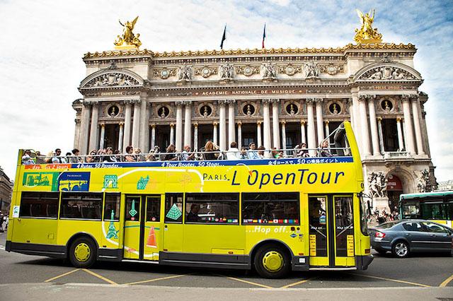 Ônibus L'Open Tour em Paris