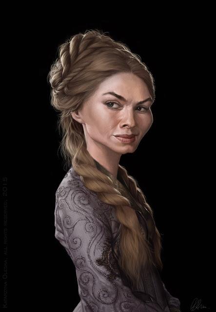 Cersei Lannister caricature