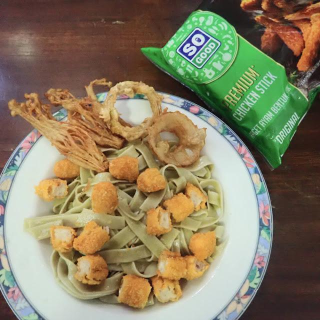 Menu Buka Puasa, Resep Tagliatelle Aglio e Olio So Good Premium Chicken Stick