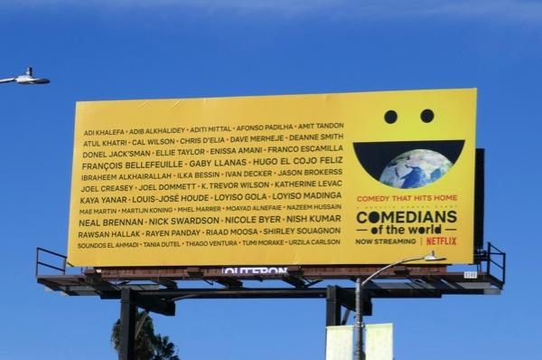 Comedians of the World Netflix billboard