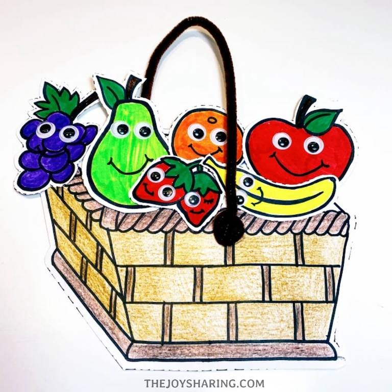 healthy food craft for preschoolers
