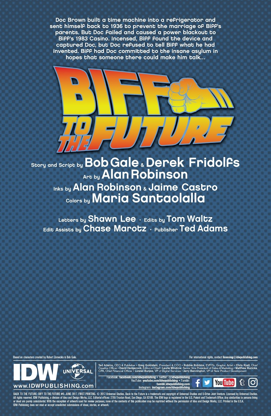 Read online Back to the Future: Biff to the Future comic -  Issue #6 - 2