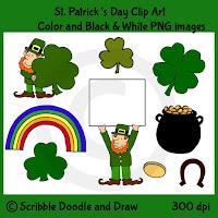 St. Patrick's day clip art for teachers clovers leprechauns horseshoe