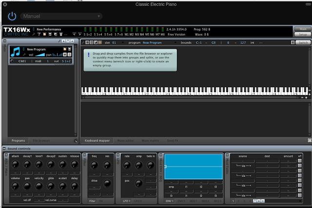 TX16wx , un sampler professionnel (et gratuit) pour Garage Band (et autres), A Unix Mind In A Windows World