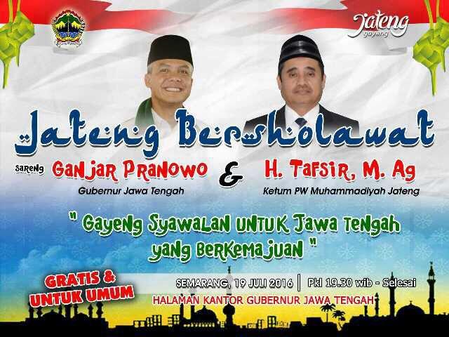 Jateng Bershalawat Bersama Muhammadiyah