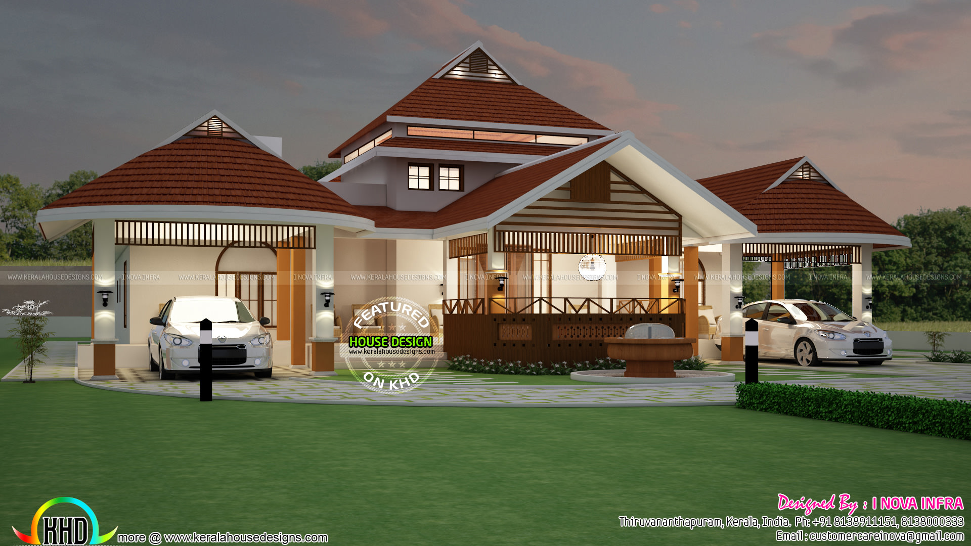 Big and beautiful kerala home design kerala home design for Huge beautiful houses
