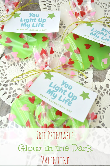 free printable glow in the dark valentine card