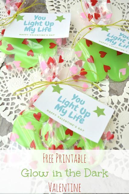 free printable glow in the dark valentine card