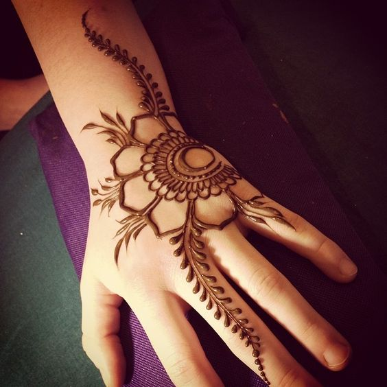Easy And Pretty Mehndi Design Makedescom