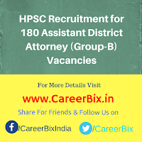 HPSC Recruitment for 180 Assistant District Attorney (Group-B) Vacancies
