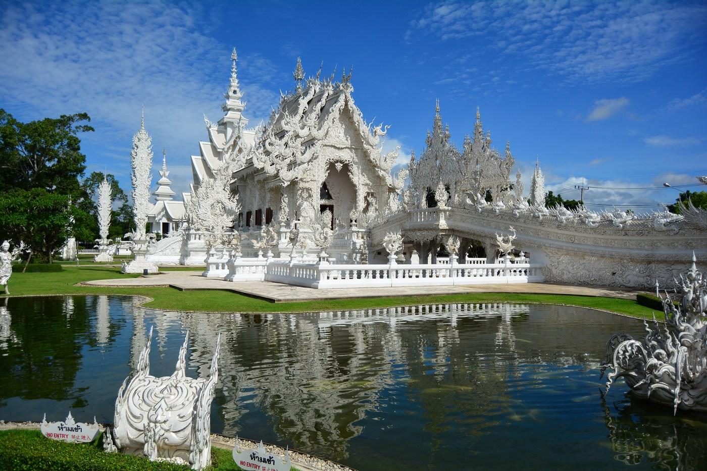 Wat Rong Khun vue d'ensemble