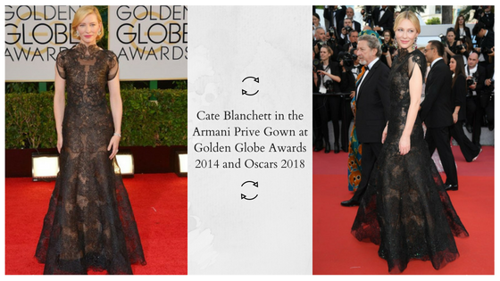 Your Ultimate Guide to an Eco-Friendly Wardrobe - Cate Blanchett in Armani Prive Black Gown