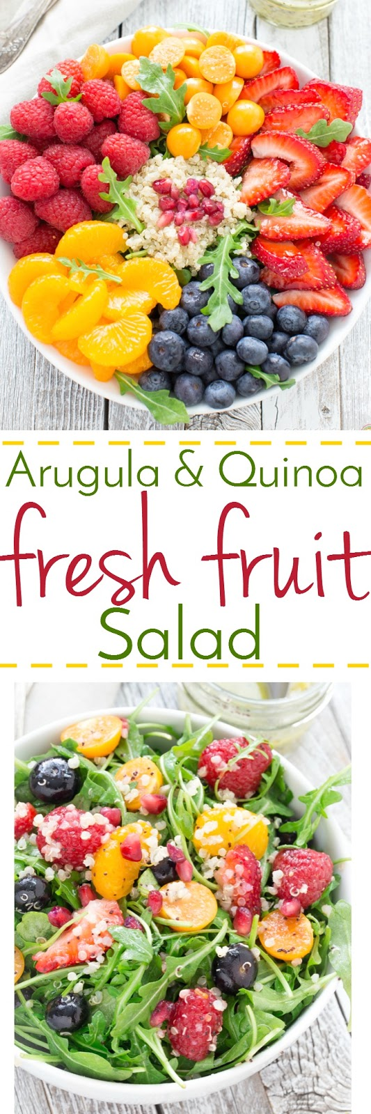 Arugula and Quinoa Salad with Fresh Fruit
