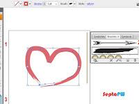 Step 5 Belajar Adobe Illustrator : Menggambar Menggunakan Brush Tool