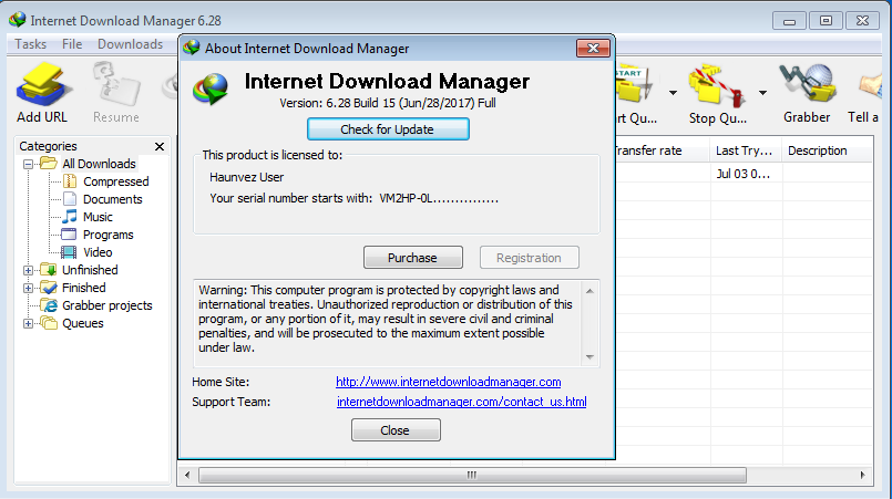 internet  manager 6.28 with patch