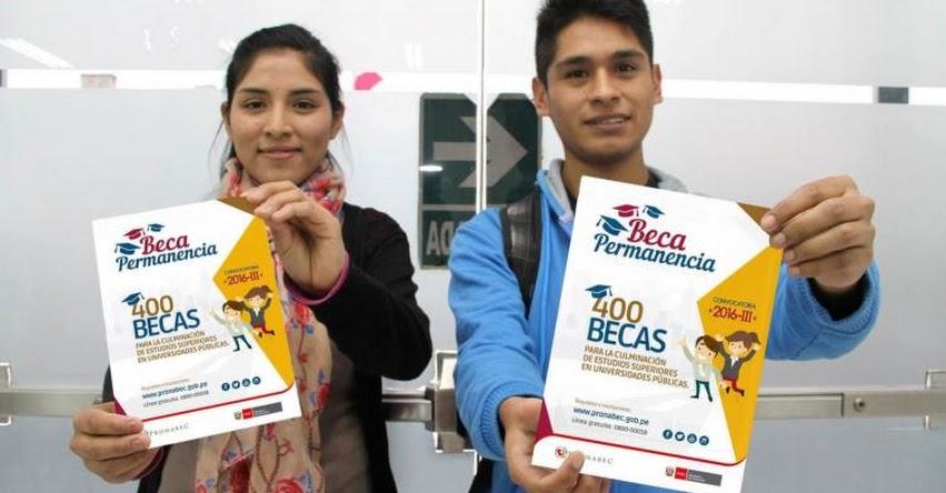 Al cierre del 2017 más de 59 mil peruanos estudiarán gracias a becas de PRONABEC - www.pronabec.gob.pe