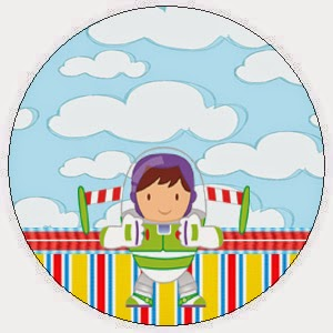 Toppers o Etiquetas de Fiesta de Toy Story Bebés para imprimir gratis.