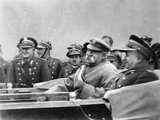 Józef Piłsudski i Adam Sokołowski - Warszawa 1933