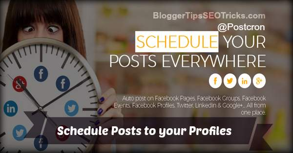 how to schedule facebook posts to profile
