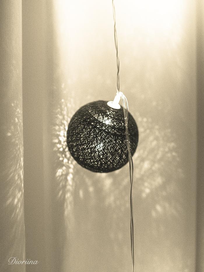 pallon muotoinen sisustuslamppu