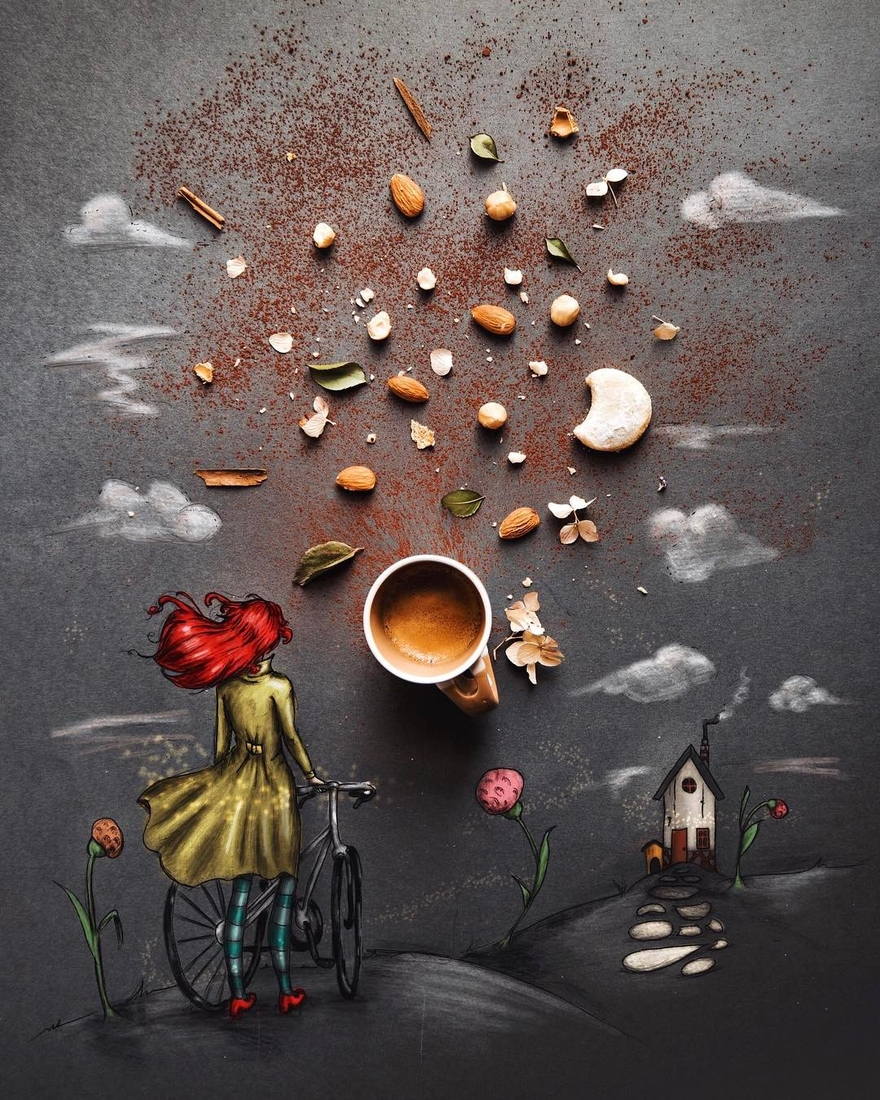 15-Moon-and-the-Sun-Cinzia-Bolognesi-The-Coffee-Rituals-and-Illustrated-Compositions-www-designstack-co