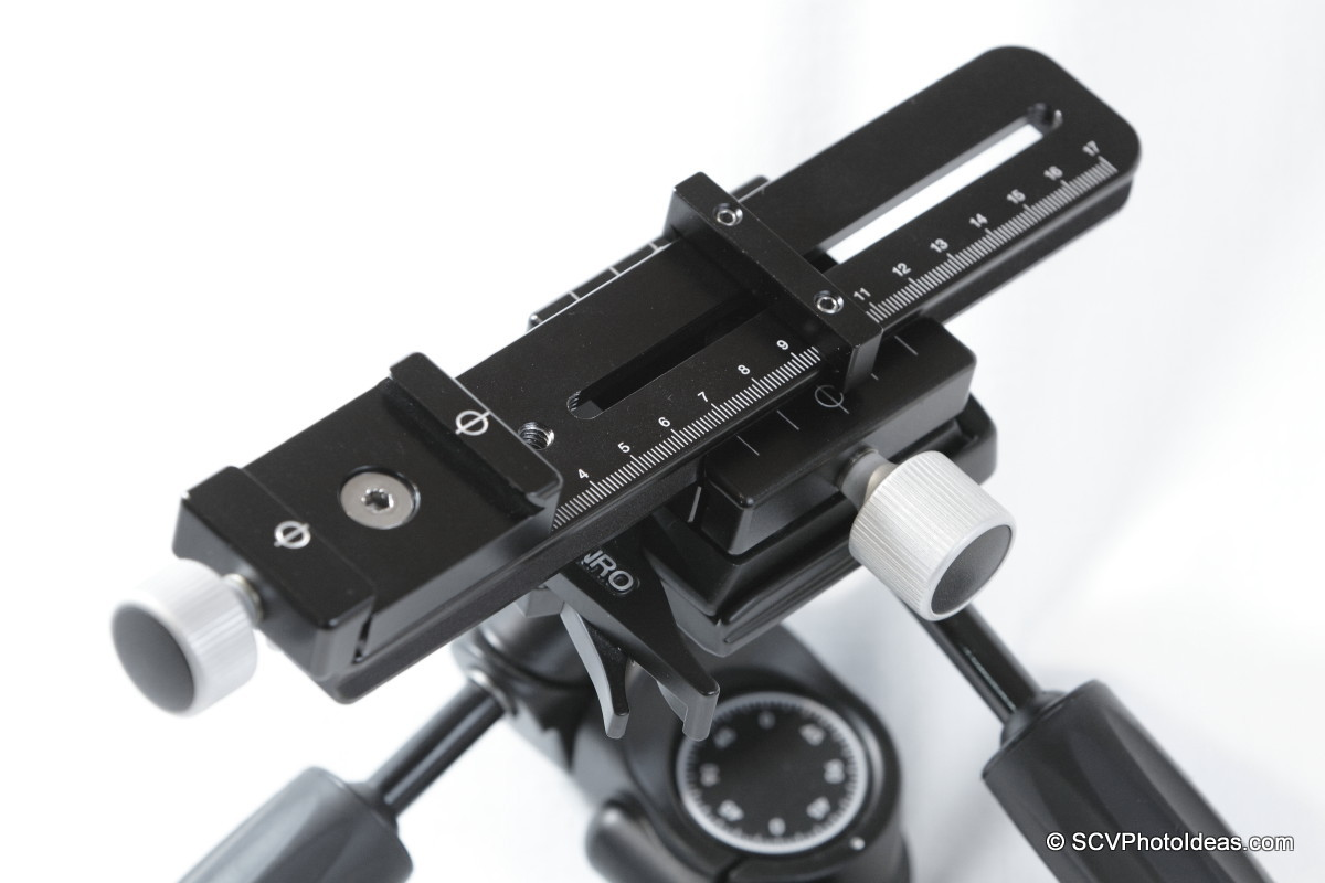 Hejnar Photo E032 Nodal rail on Benro HD-38 head w/ F010A QR Clamp top