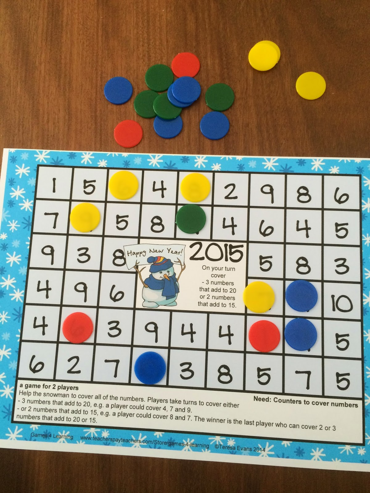 To download and print the entire 10 step photo directions ...  Math Card Games
