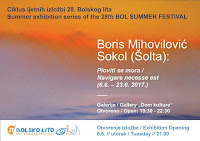 Boris Mihovilović Sokol Izložba Ploviti se mora Bol slike otok Brač Online