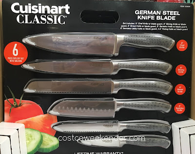 Make food prep easier in the kitchen with the Cuisinart Graphix 6-piece Knife Cutlery Set