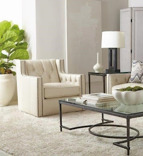 elegant white leather chair