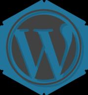 wordpress hexagon icon