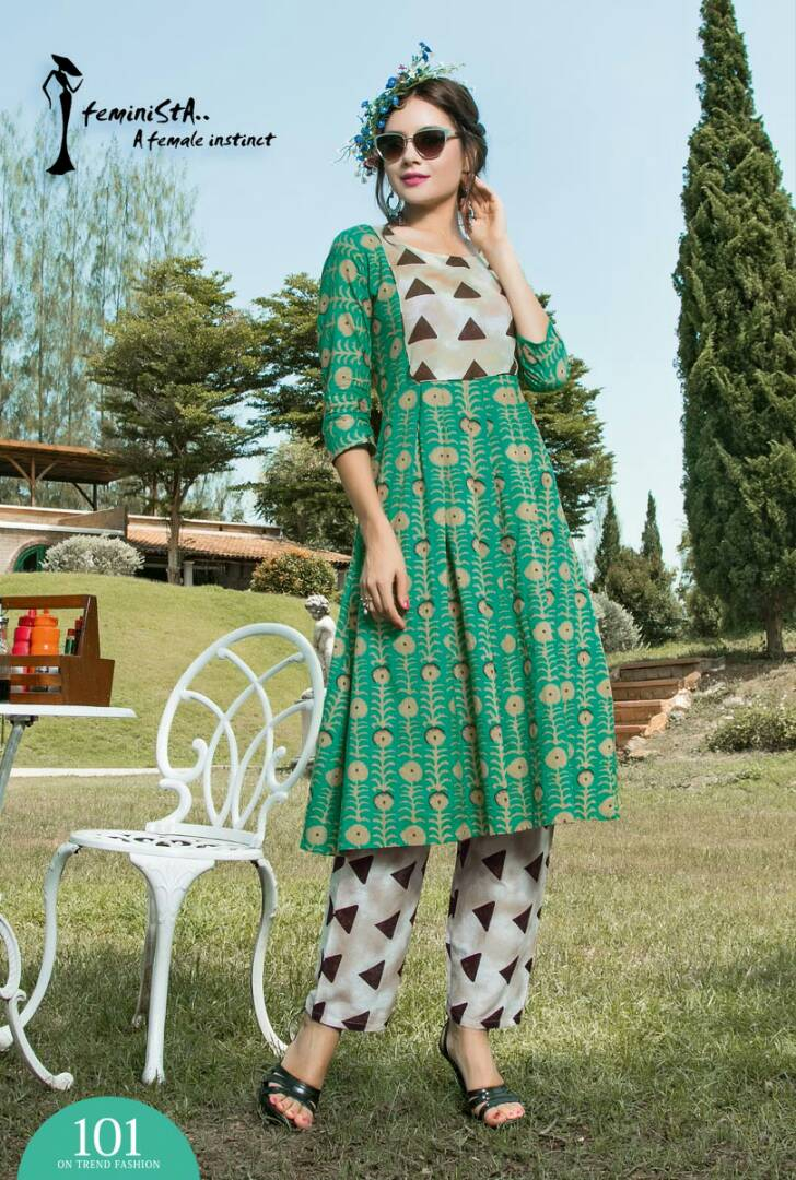 Ikkat – New Designer Awesome Stylist Cottton Flex Kurti