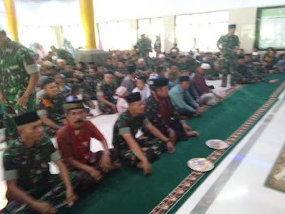 Peringatan Maulid Nabi Muhammad SAW di Yonif Para Raider 433 Kostrad Penuh Hikmat