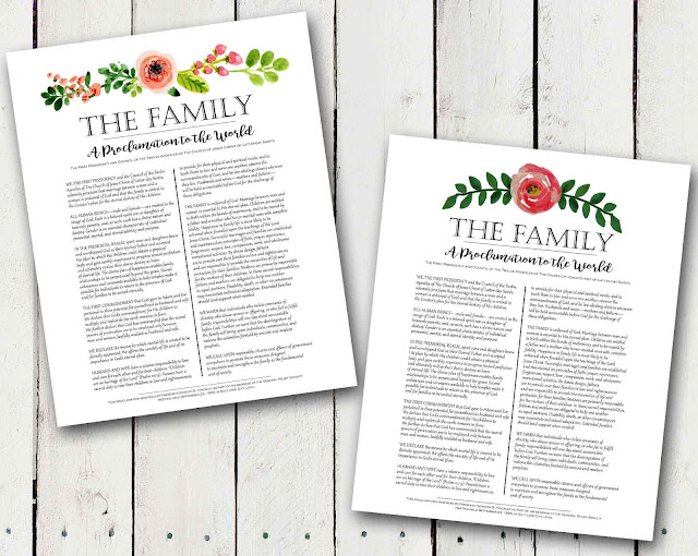 photograph about The Family a Proclamation to the World Free Printable identify A Pocket entire of LDS prints