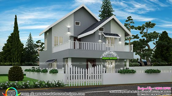 American style small double storied home