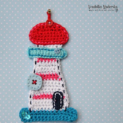 Crochet Lighthouse applique pattern