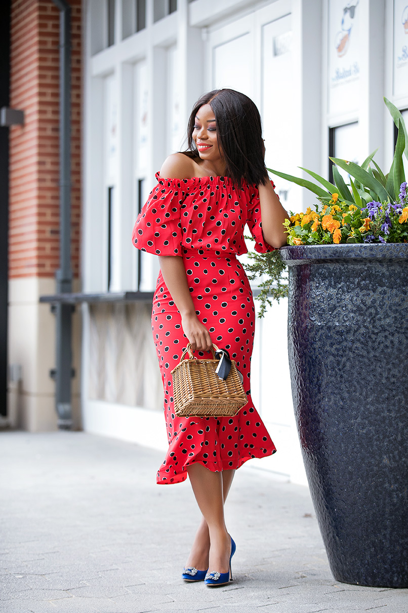 Stella-adewunmi-ofjadore-fashion-shares-saloni-polka-dot-dress-for-mothers-day