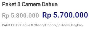 Paket 8 Dahua Camera&DVR