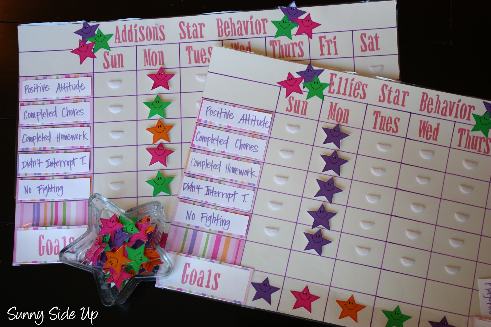 When they were  years old the same star behavior charts that  pull out every summer we need  little extra something to keep us on track also re born sunny side up blog rh thesunnysideupblog