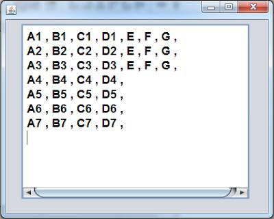 Show 2D Array Values Using Java